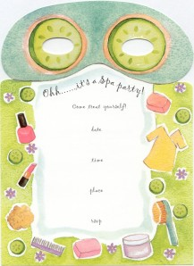 spa party template