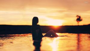 17194-girl-in-the-lake-at-sunset-1920x1080-girl-wallpaper
