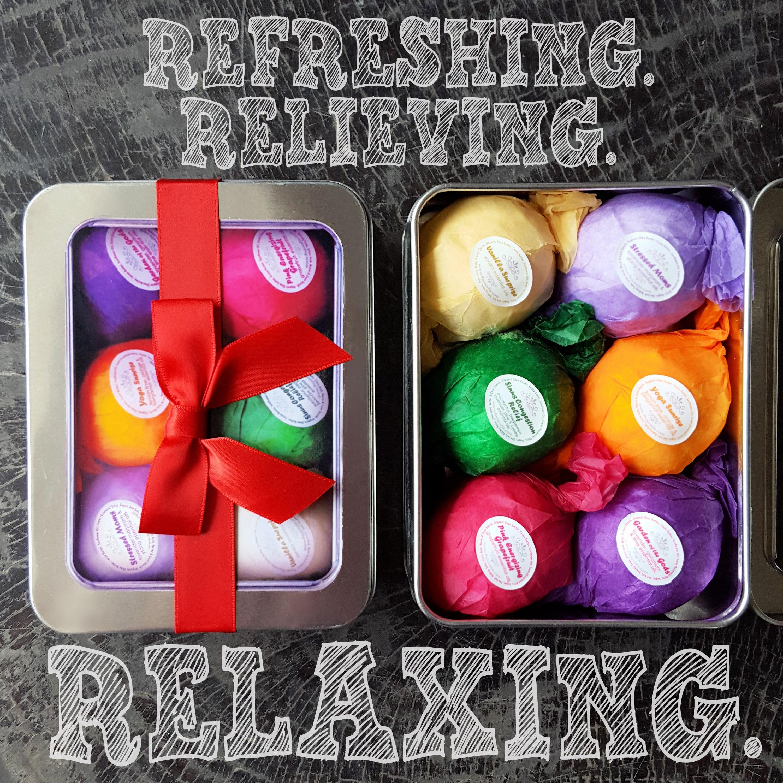 Bath Bombs Gift Set by Rejuvelle Best Stocking Stuffer, So Lush, Essential Oils, Vegan, Gluten.jpg