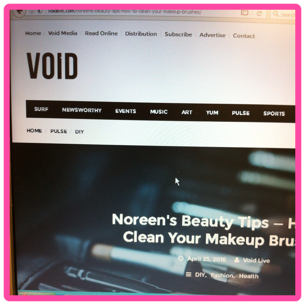 VOID mag makeup brushes