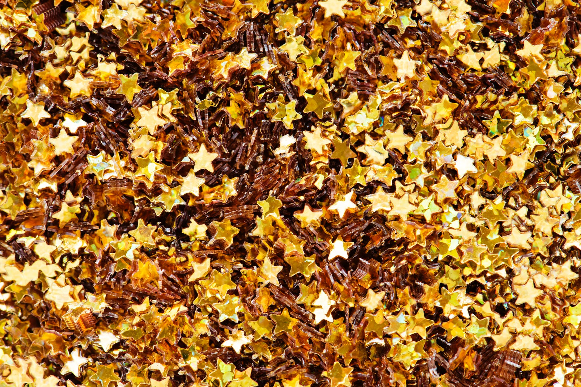 gold colored star confetti lot
